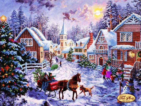 ТА-228 - Рождественская деревня - схема (Tela Artis)