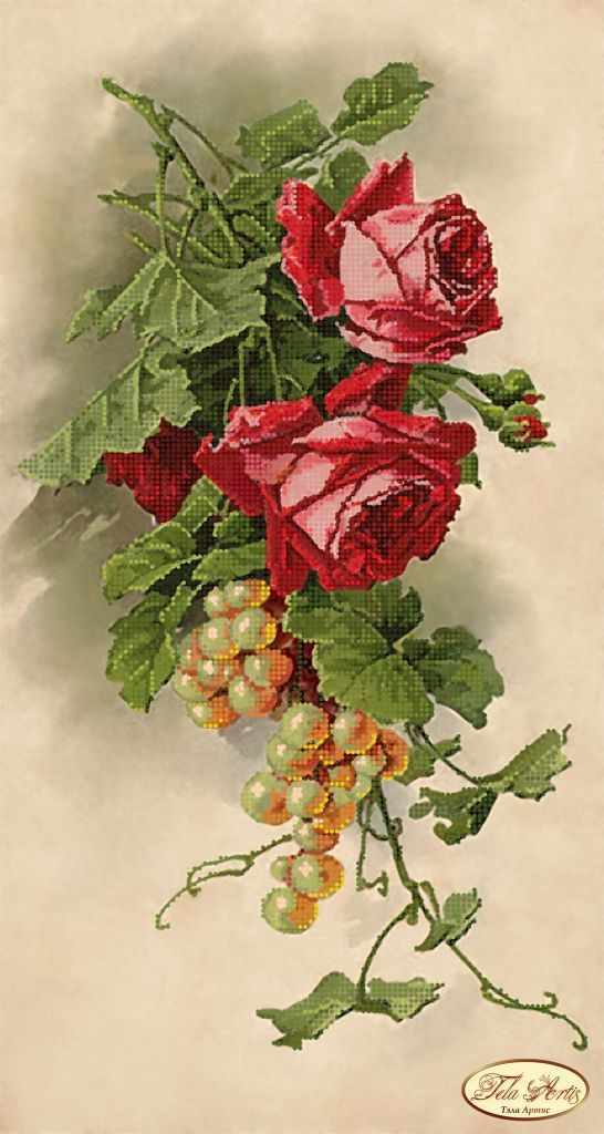 ТК-024 - Розы и виноград (Tela Artis)