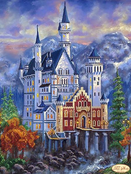ТК-052 - Замок Нойшванштайн осенью - схема (Tela Artis)