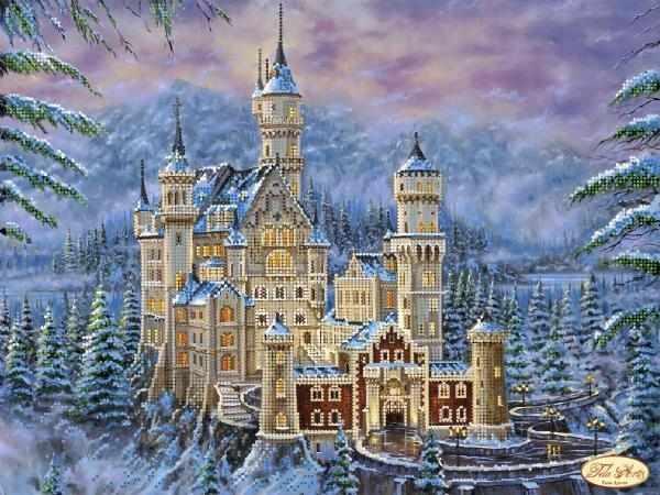 ТК-053 - Замок Нойшванштайн зимой - схема (Tela Artis)