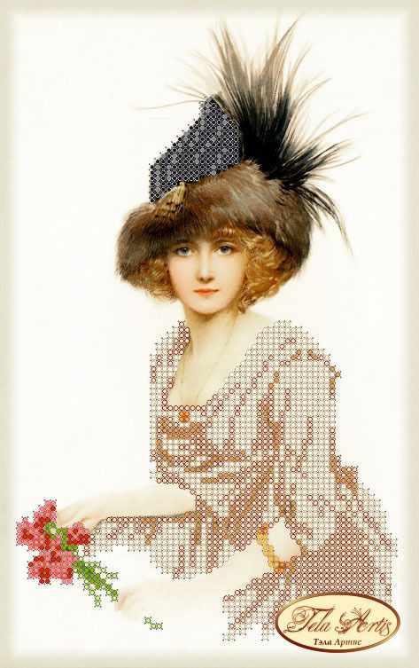 ТМ-038 - Дама в меховой шляпке (Tela Artis)