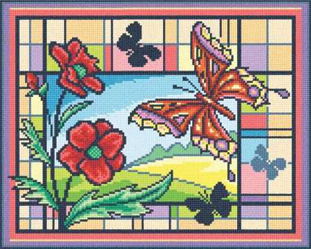 "ВИ-0329 ""Витраж с бабочкой"""