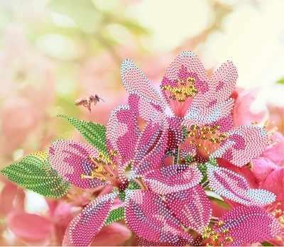 В1067 Весенний цвет - рисунок на атласе (Alisena)