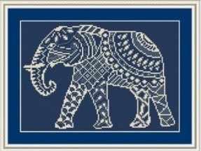 Вф-007 Слон - набор (Орнамент)