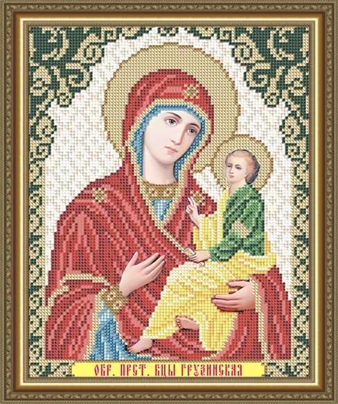 VIA4258 Грузинская Образ Пресвятой Богородицы - схема (Art Solo)