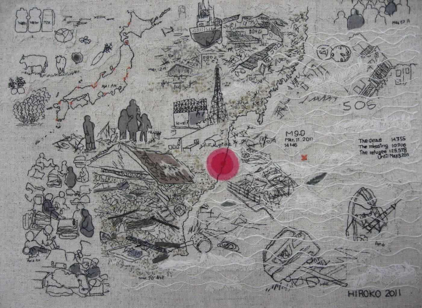 Выставка вышивки о землетрясении в Японии пройдет во Владивостоке