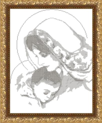 VKA3004-А Дева Мария с младенцем - схема (Art Solo)