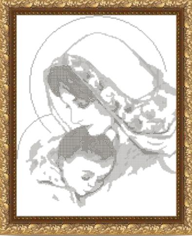 VKA3004-В Дева Мария с младенцем - схема (Art Solo)