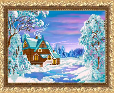 VKA3014 Зимний домик - схема (Art Solo)