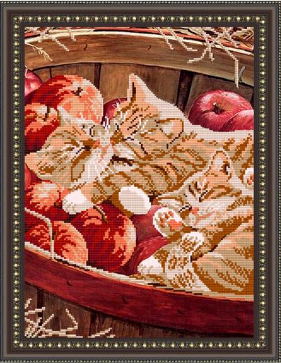 VKA3018 Котята в корзине - схема (Art Solo)