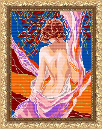 VKA3040 Девушка осень - схема (Art Solo)