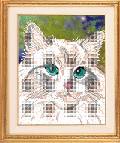 VKA4332 Белый кот - схема (Art Solo)