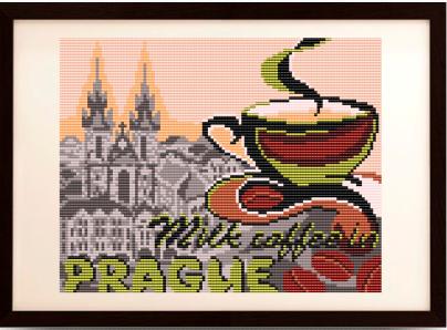 "VKA4407 ""... на кофе с молоком в Праге"" - схема (Art Solo)"