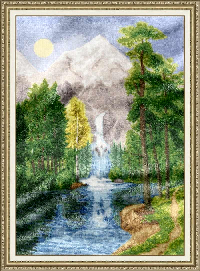 ВМ-027 Водопад в горах. Времена года