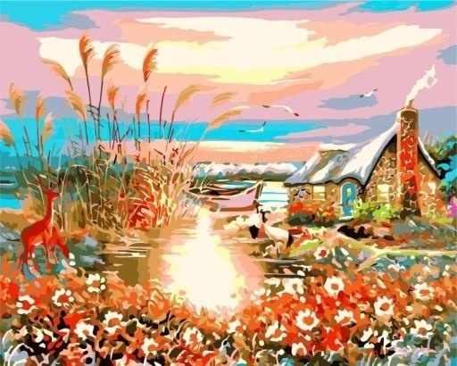 W-063 Пейзаж - мозаика Милато