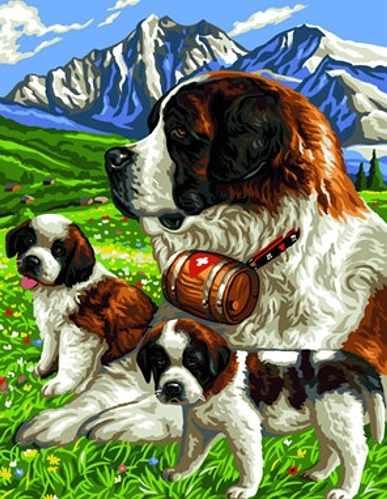 X-028 Собаки - мозаика милато