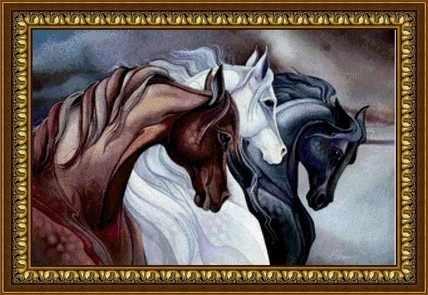 Y-032 Тройка лошадей