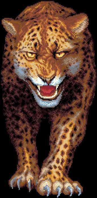 Ягуар (АЖ-1083) - картина стразами