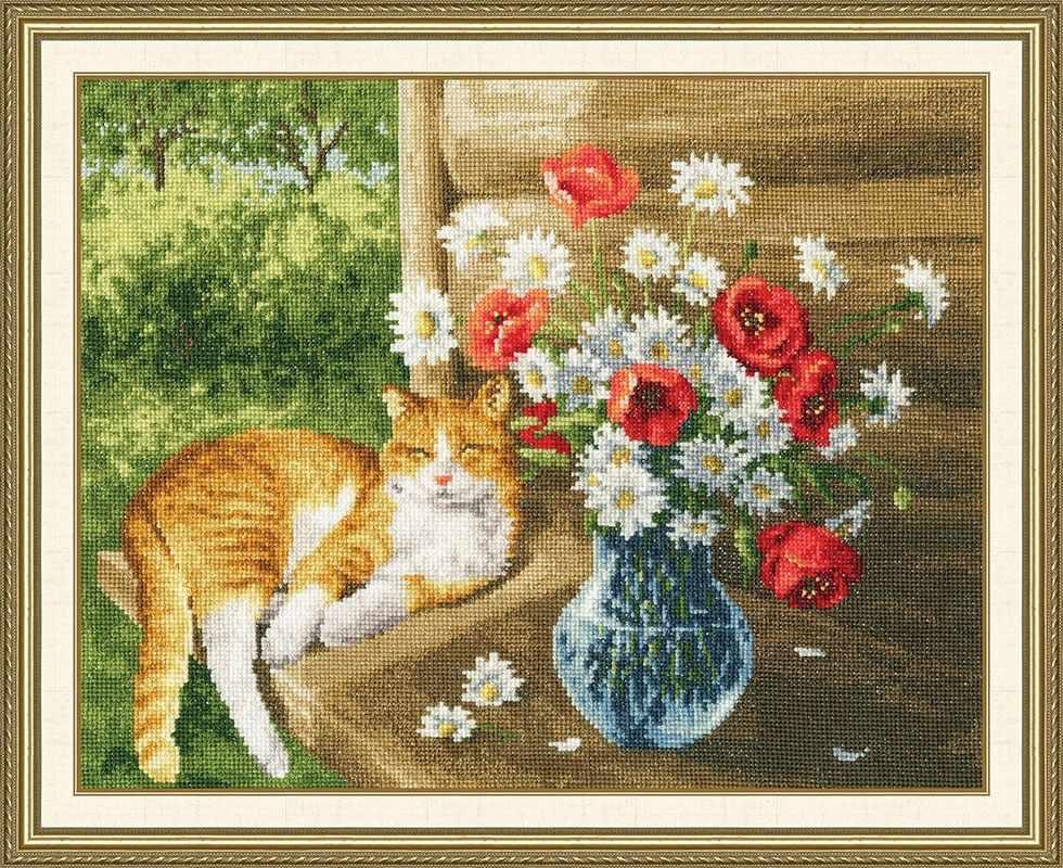 З-041 Дачная жизнь кота Василия .Зарисовки