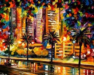 Z-132 Ночные огни Майами - мозаика Милато