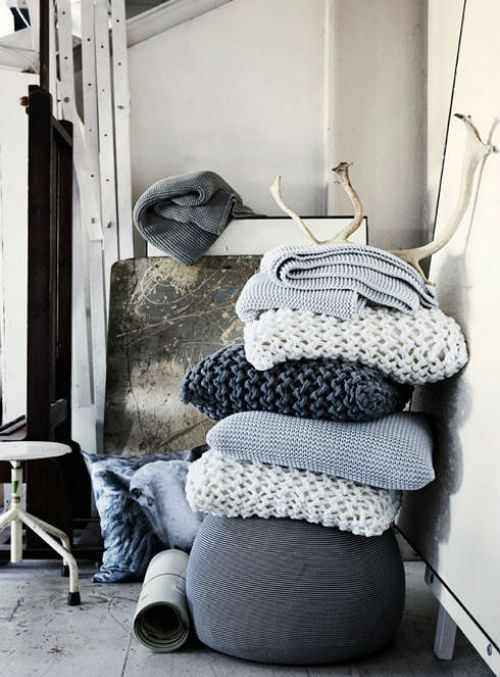 вязание для дома и интерьера крючком и спицами идеи с фото и