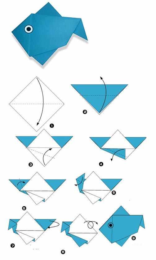 Простые оригами для детей. Схемы и видеоуроки.
