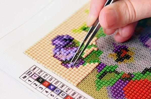 Как делать алмазную вышивку