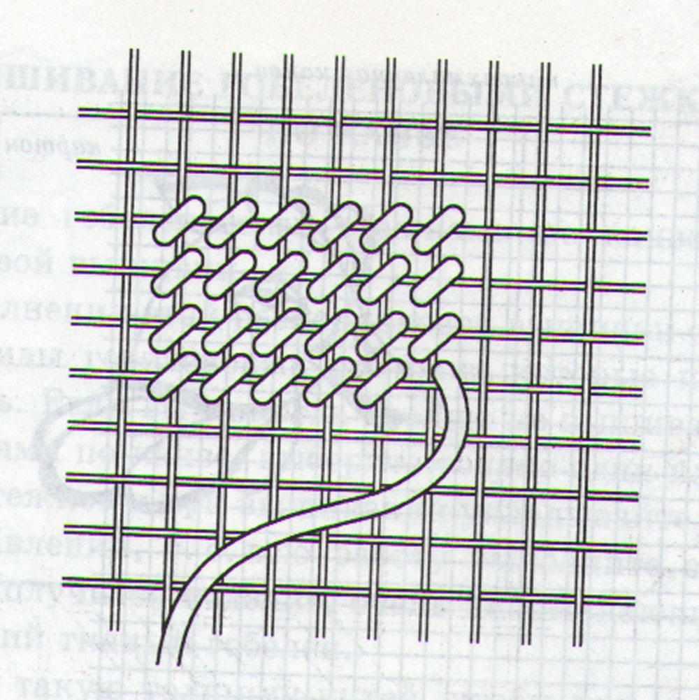 Техника вышивки гобеленовым швом