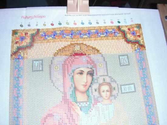 Как вышивать иконы бисером