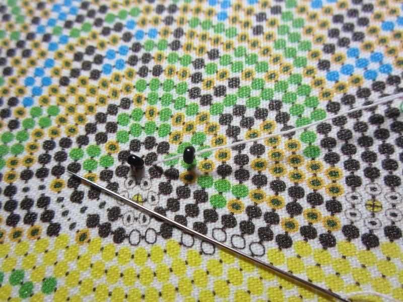 Круговая техника вышивки бисером