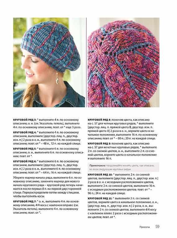 двустороннее вязание спицами интересная техника шарфы шали шапочки