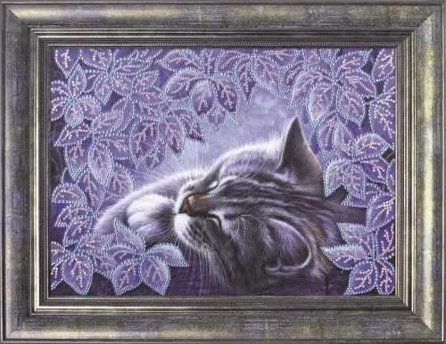 0113 Мечтательный сон - картина стразами (Преобрана)