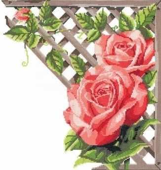 0248 Ветвистая красная роза (Nitex)