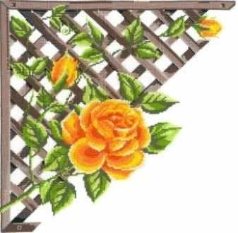 0249 Ветвистая желтая  роза (Nitex)