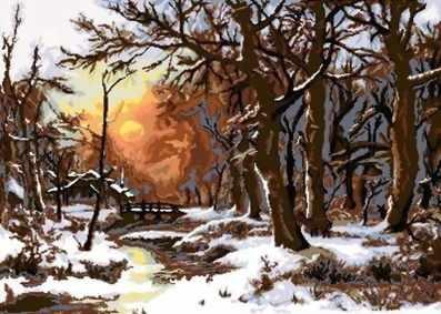 0085 Зима в лесу