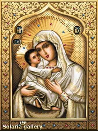 1112-62 Св. Богородица Умиление - бумажная схема