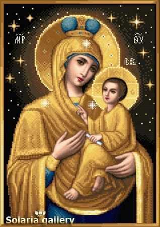 1113-58 Золотая Тихвинская Св. Богородица - бумажная схема