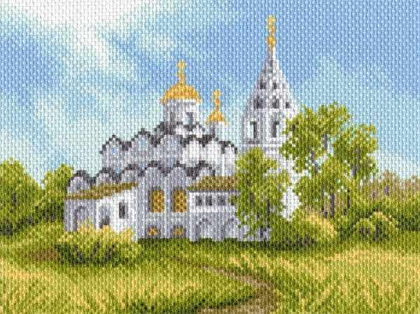 1684 Белая церковь - рисунок на канве (МП)