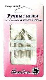 200.39 Иглы ручные для вышивания тонкой шерстью металл, N3-9 16 шт