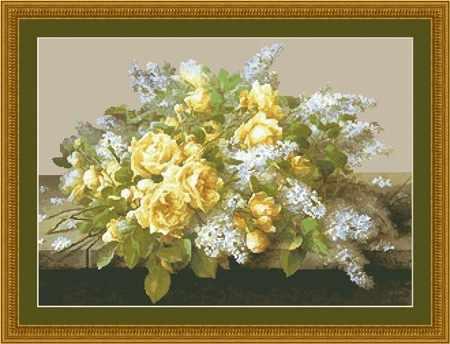 20177 Желтые розы и сирень KKrafts