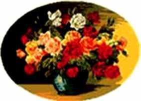 0210 Ваза с розами