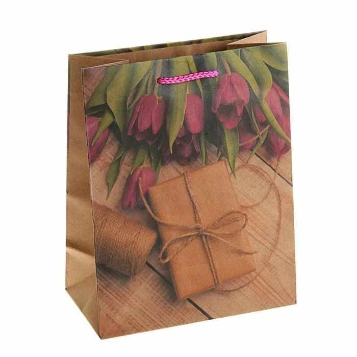 """2564325 Пакет крафт """"Подарок со вкусом"""""""