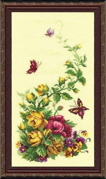 """215 """"Триптих. Полевые цветы"""" (розы) - чм"""