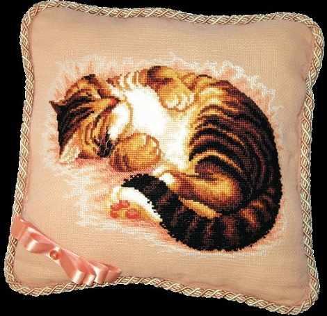 """332 подушка """"Кошка"""" - чм"""