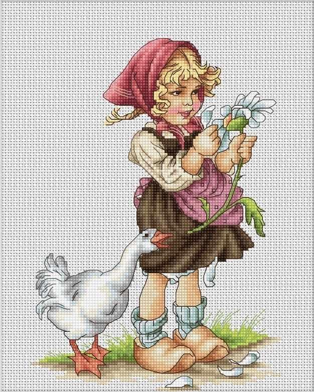 B1047 Девочка с гусем (Luca-S)