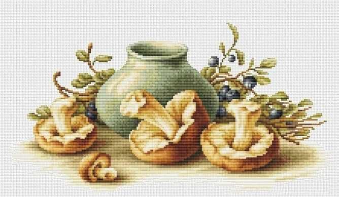 B2247 Натюрморт с грибами (Luca-S)