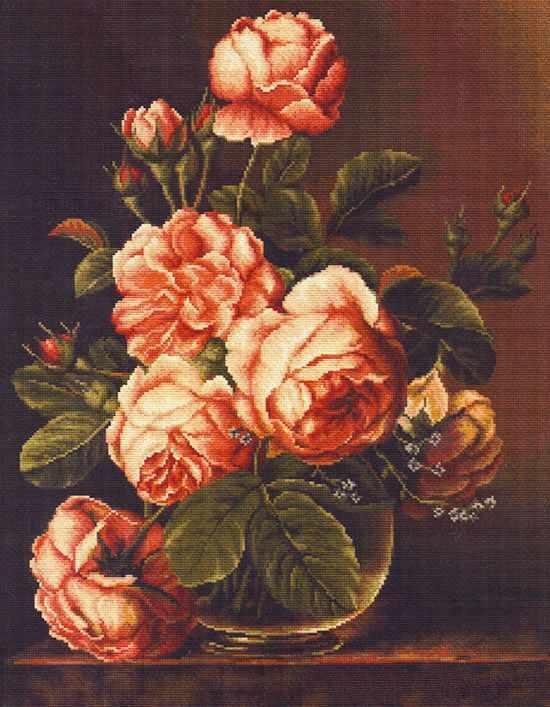 B0488 Розы в вазе (Luca-S)