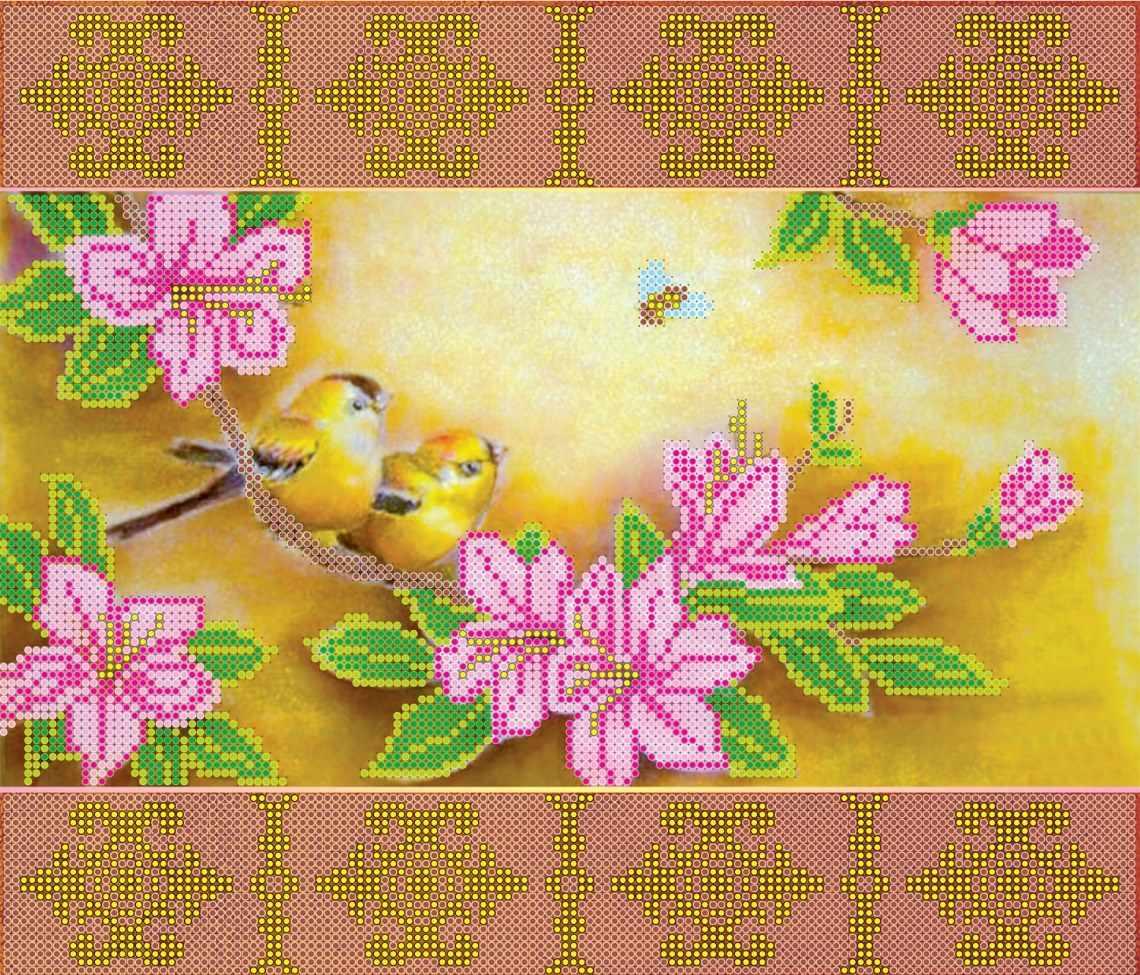 """АС-102 """"Весеннее цветение"""" - схема для вышивания (Абрис Арт)"""