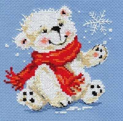 0-053 Белый медвежонок