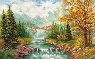 3-09 Горный водопад